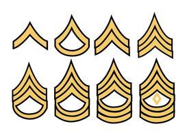 Listras militares do exército vetor