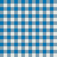 Padrão de tecido xadrez azul e cinza vetor