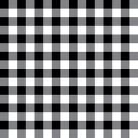 Padrão de tecido xadrez preto e cinza vetor
