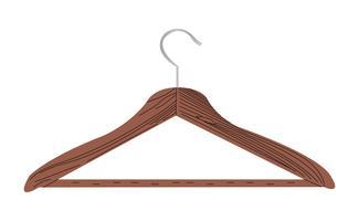 Cabide de madeira vetor