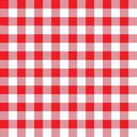 Padrão de tecido xadrez vermelho e rosa vetor