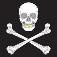 sinal de pirata preto vetor