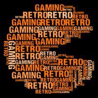 Ilustração em vetor retrô Gaming Wordcloud