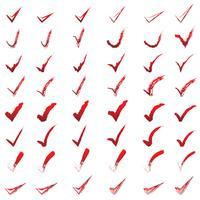 Conjunto de vetores de marca de carrapato