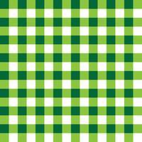 Padrão de tecido xadrez verde escuro e verde claro vetor