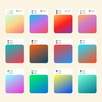 Composição de cores de gradiente de tendência