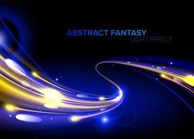 Velocidade de luz abstrata em vetor