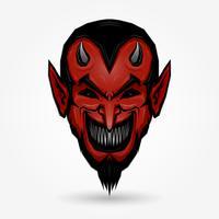 Cara do diabo vermelho vetor