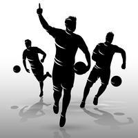 jogadores de futebol design01 vetor