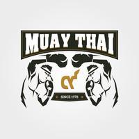 Símbolo de Muay thai vetor