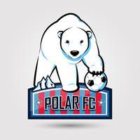 emblema de futebol de urso polar