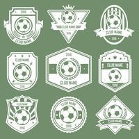 emblemas do clube de futebol vetor