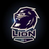 logotipo do emblema do leão vetor