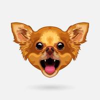 cabeça de cachorro chihuahua vetor