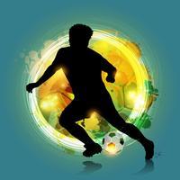 jogador de futebol colorido abstrato vetor