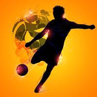 Jogador de futebol fantasia vetor