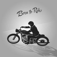 nascido para andar de motoqueiro vetor