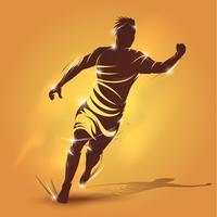 jogador abstrato correndo vetor