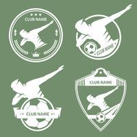 Emblema de dança de futebol vetor