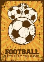 Futebol Futebol Esporte Retro Pop Art Poster Signage