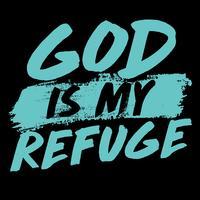 Deus é meu refúgio vetor