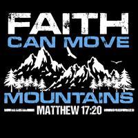 A fé move montanhas vetor