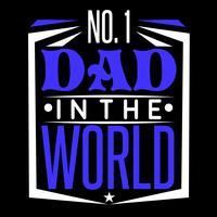 Número 1 pai no mundo vetor