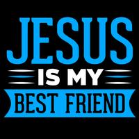 Jesus é meu melhor amigo vetor