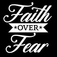 Fé sobre o medo vetor