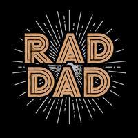 Arte de tipografia de pai Rad vetor