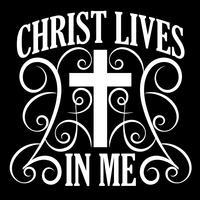 Cristo vive em mim vetor