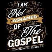 Eu não me envergonho do evangelho vetor