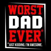 Pior pai de todos os tempos vetor