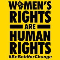 Os direitos das mulheres são direitos humanos vetor
