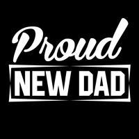 Pai novo orgulhoso vetor