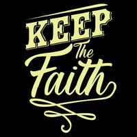 Tenha fé vetor