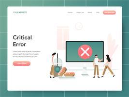 Conceito crítico da ilustração do erro do computador. Conceito de design moderno de design de página da web para o site e site móvel. Ilustração vetorial EPS 10