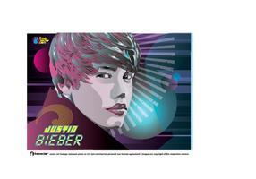 Vetor mundial de Justin Bieber