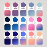 Pacote de vetor de idéias de composição de gradiente
