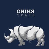 respingo da besta rinoceronte vetor