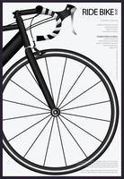 Bicicleta ciclismo cartaz ilustração vetorial