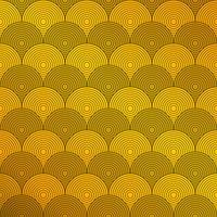 Art deco do fundo do teste padrão do círculo. Apresentando em estilo dourado de tema de luxo. Você pode usar para anúncio, pôster, capa, trabalho artístico.