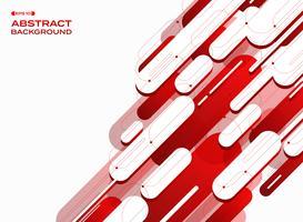 O sumário de linhas vermelhas do inclinação futurista da tecnologia modela o fundo. vetor