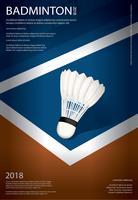 ilustração em vetor cartaz campeonato badminton