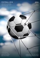 futebol futebol cartaz vestor ilustração