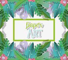 Desenhos de arte de papel