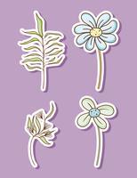 Conjunto de flores vetor