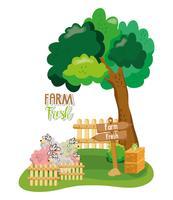 Fazenda cartoons frescos