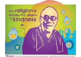 Dalai Lama vetor