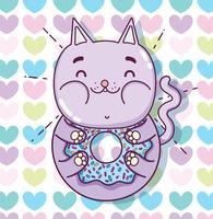 Desenho de gato bonito vetor